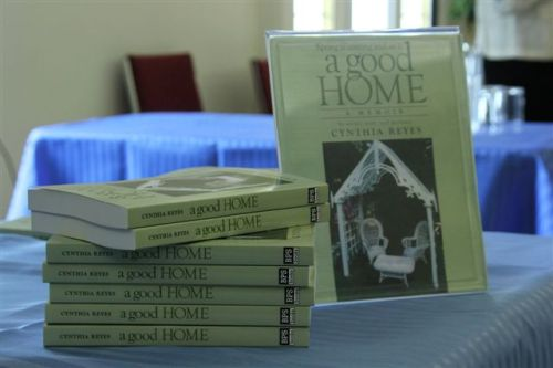 Book launch - stack of books