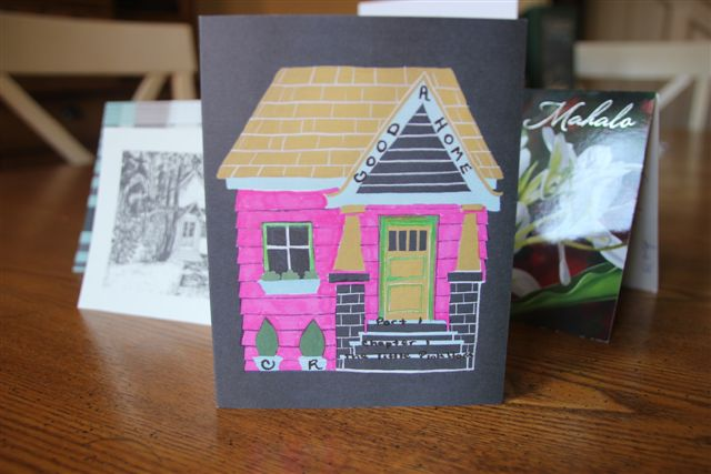 A Godo Home - reader card pink house