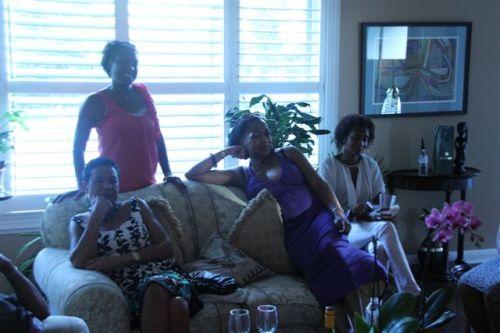 Book Erica, Lorna, Karen and other woman at Evas