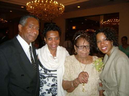 aunt Rose with her son, great niece, and great-great niece