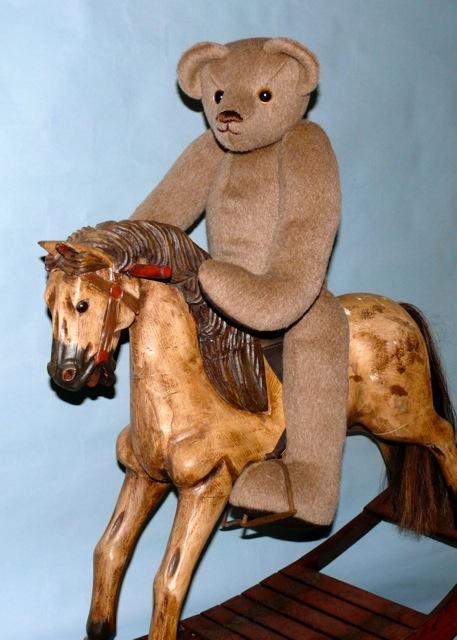 Brown Bear on Rocking Horse