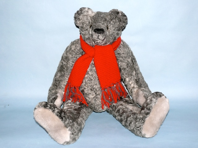 Grey Bear made of recycled Persian lamb