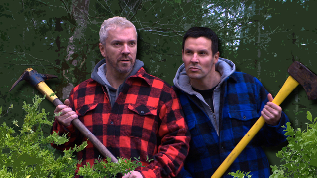 Blog Photo - Colin and Justin in the Woods