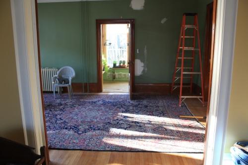 Blog Photo - Green Room in Progress