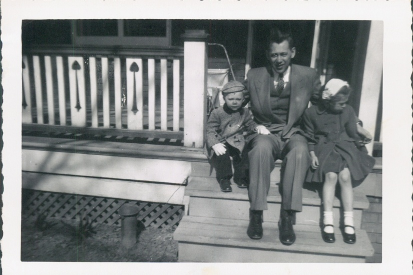 Blog Phot - Father and children on porch steps