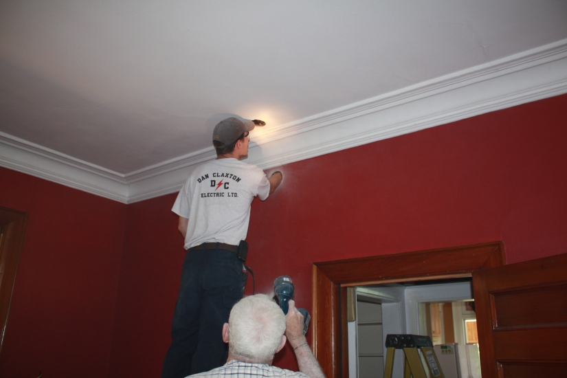 Blog Photo - electrician and red walls