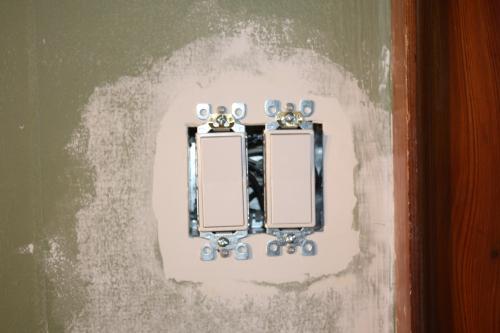 Blog Photo - John Plastering Around Light Switch