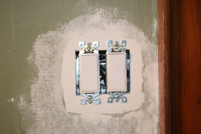 Blog Photo - John Plastering Around Light Switch