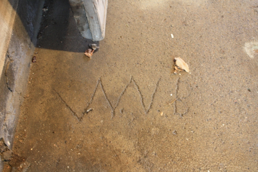 Blog Photo - Johns House  Signature in concrete