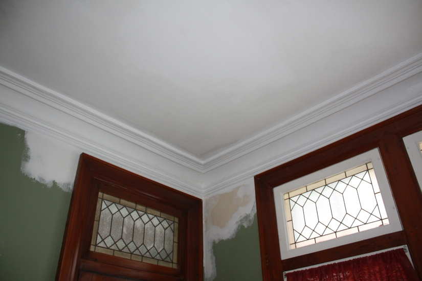 Blog Photo - John's Work on Ceiling and CM and Leaded windows