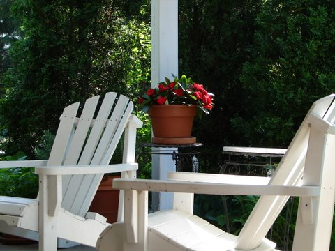 Blog Photo - Muskoka Chairs and Flowers