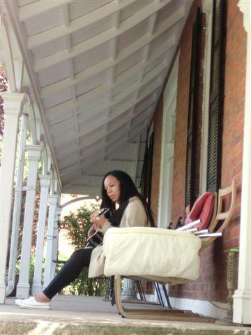 Blog Photo - Daughter plays guitar long shot