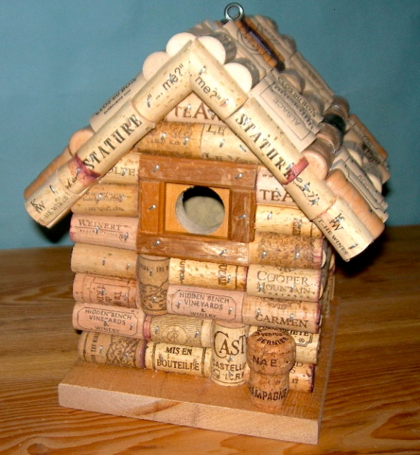 build bird house plan made out of wine corks diy mission