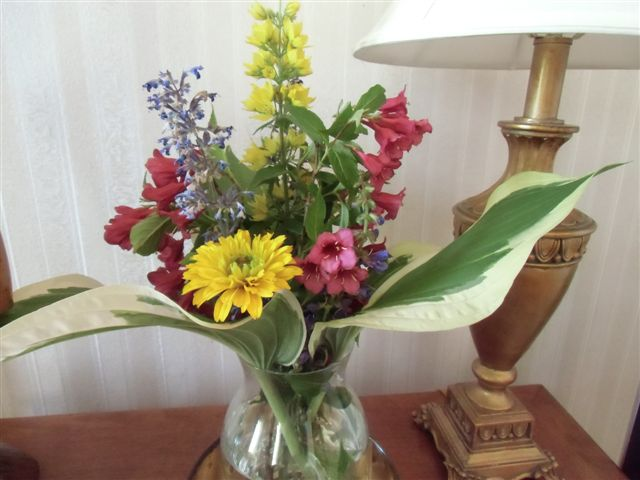 Blog Photo - flowers in glass vase mixed