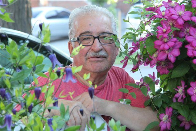 Blog Photo - Vito amid the flowers