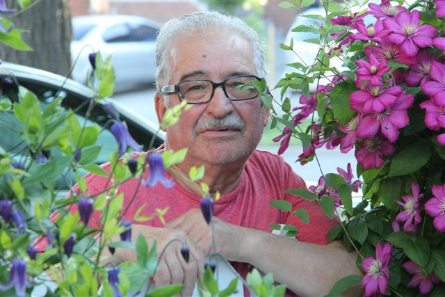 Blog Photo - Vito amid the flowers