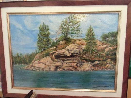 Blog Photo - Artist Sandra Painting of Island