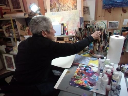 Blog Photo - Artist Sandra Reaches for brush