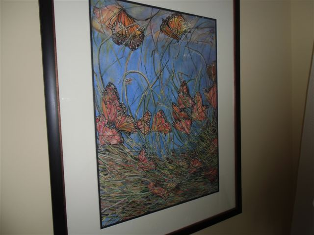 Blog Photo - Artist Sandra's Butterfly painting