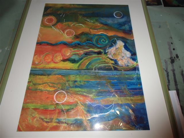 Blog Photo - Artist Sandra's Framed painting Abstract