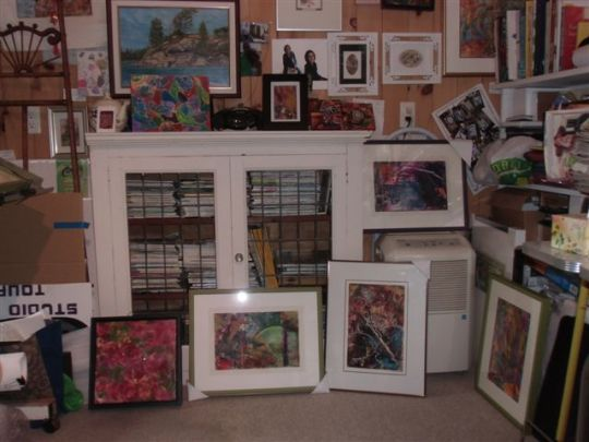 Blog Photo - Artist Sandra's Studio Wall