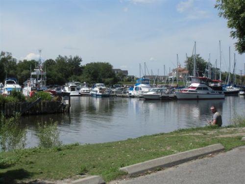 Blog Photo - Bond Head Marina, Boats and Man fishing