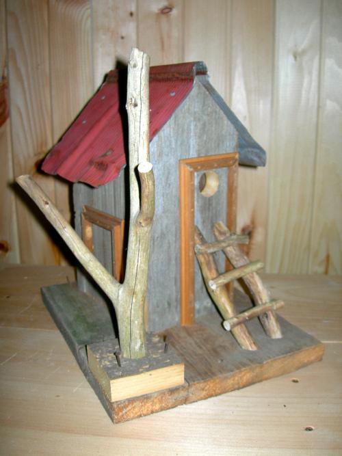 Rustic birdhouse 2 - by Jean Long