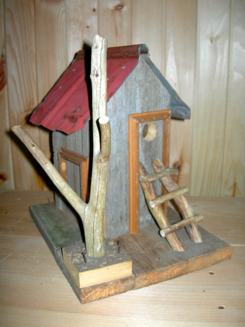 Rustic birdhouse 2 - by Jean Long
