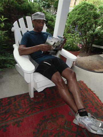 Blog Photo - Verandah - Reading intently