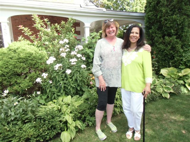 Blog Photo - Afternoon Tea Shelagh and Cynthia in Garden
