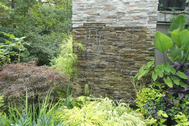 Blog Photo - Mary's Garden with waterfall and Japanese maples