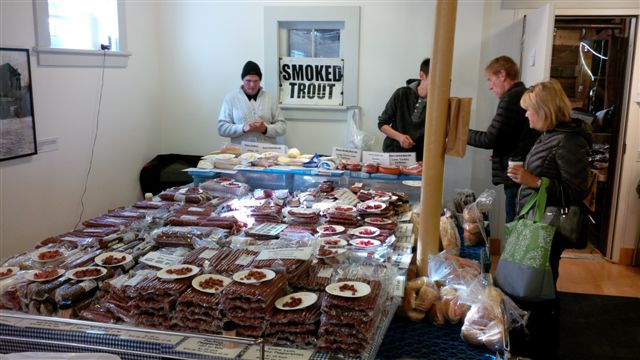Blog Photo - Farmers Market smoked Goods display and customers