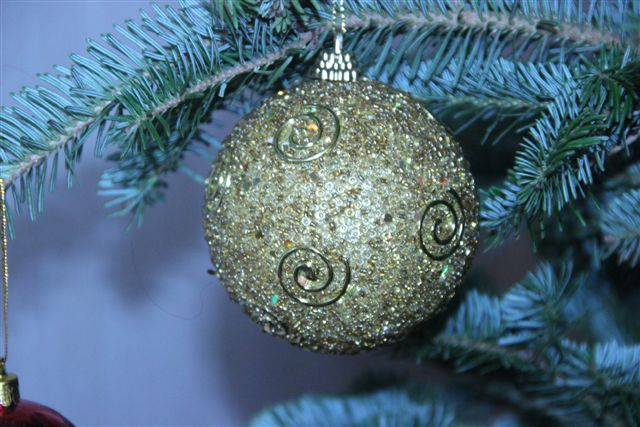 Blog Photo - Christmas ornaments Gold Ball