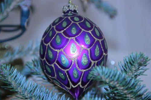 Blog Photo - Christmas Ornaments Purple Ball