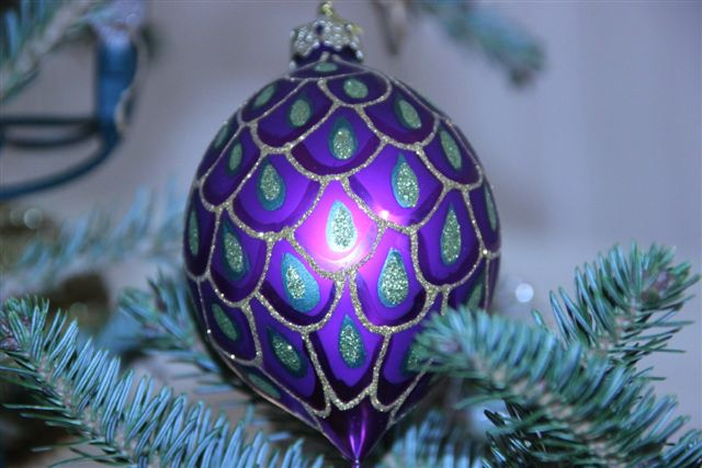 Blog Photo - Christmas Ornaments Purple Ball