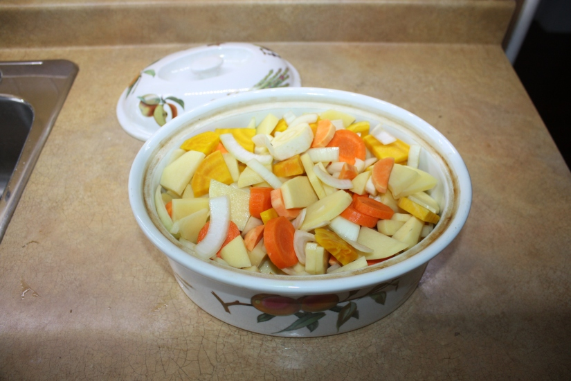 Blog Photo - Recipe - Mixed vegetables in dish
