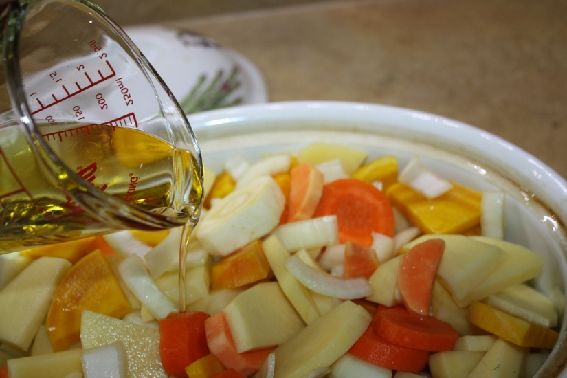 Blog Photo - Recipe - Oil pouring on veggies