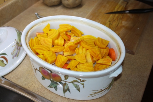 Blog Photo - Recipe - Yellow beets in dish