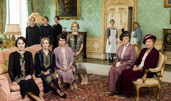 Blog Photo - Downton Abbey Family and Servants in Green room