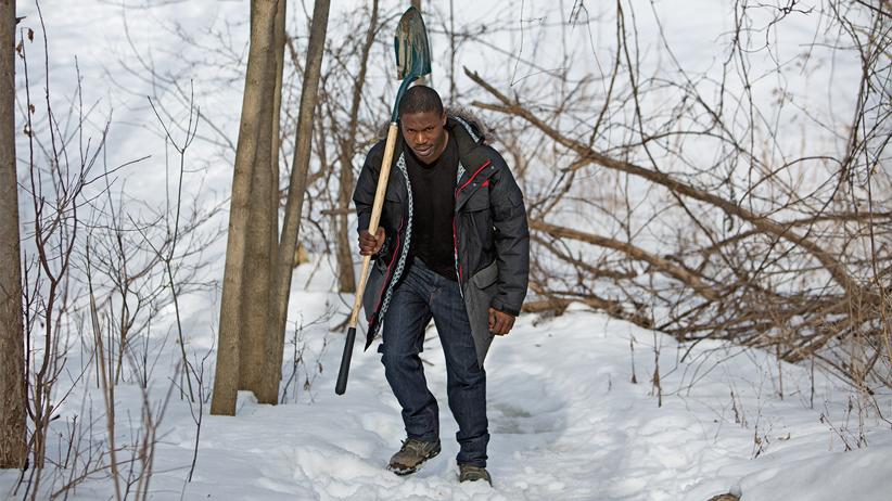 Blog Photo - Elton McD with shovel - Photo  from MacLean's Magazine