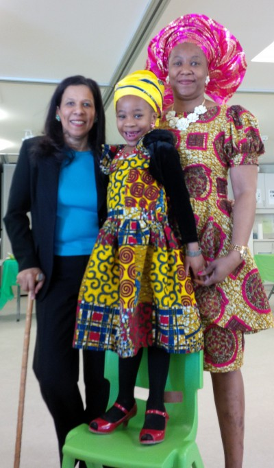 Blog Photo - Tattyana, her Mom and cynthia at St. George's Church