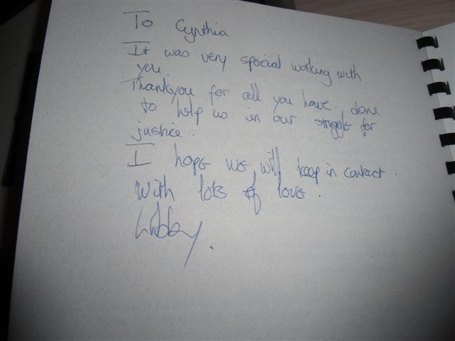 Blog Photo - South Africa Stories Note from Libby