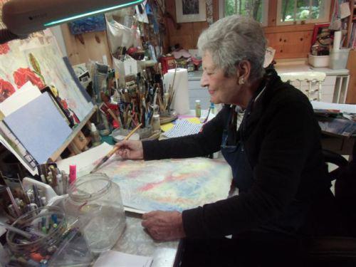 Blog Photo - Artist Sanda Painting side view