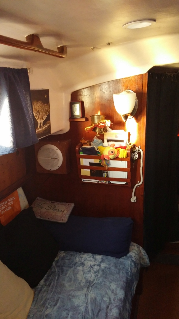 Margaret's Corner on her boat