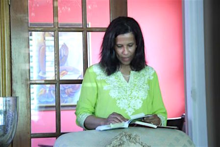 Book Photo -Cynthia reading