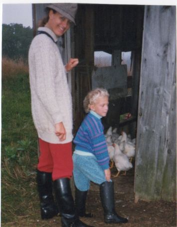 Blog Photo - Doors Open Nick early photo of family and chickens