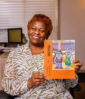 BLOG Photo - Yvonne with NC Book