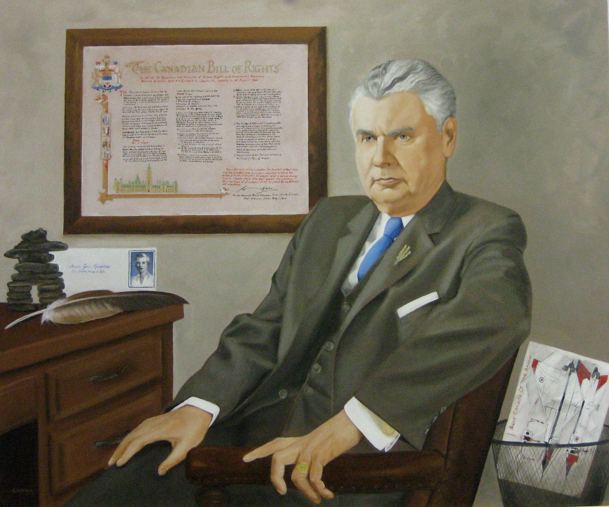 Blog Photo - Susan Statham Portrait of John Diefenbaker
