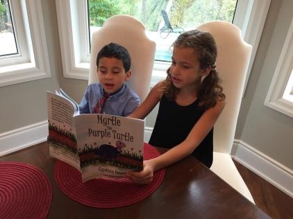 Blog Photo - Ava and Elias reading Myrtle 2
