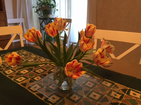 Blog Photo - Dining table with tulips